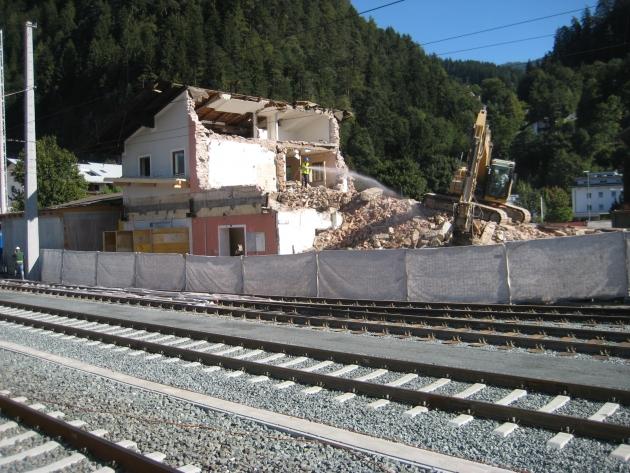 Abbruch ÖBB Bahnhof Brixlegg