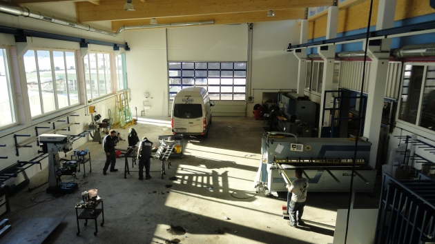 Zu- und Neubau Werkhalle Schlosserei Mayr
